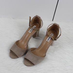 Mirna Steve Madden suede ankle strap, size 8.5M